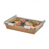 Colpac Combione Recyclable Kraft Food Trays With Lid 1110ml / 39oz (Pack of 200)