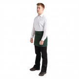 Whites Short Bistro Apron Green