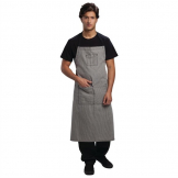 Chef Works Urban Portland Fine Stripe Bib Apron Grey