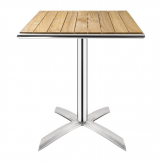 Bolero Ash Flip Top Square Bistro Table 600mm
