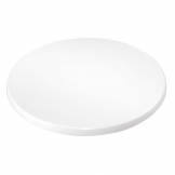 Bolero 600mm Round Pre-Drilled Table Top White