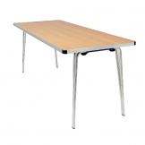Gopak Contour Folding Table Oak 4ft