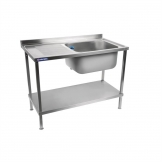 Holmes Self Assembly Stainless Steel Sink Single Left Hand Drainer 1500mm