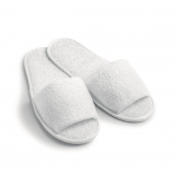 Essentials Open Toe Flipflops White (Cotton Towelling) (100 pcs)