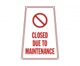 Closed Due to Maintenance Portable Floor Stand - FL068