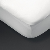 Essentials Spectrum Fitted Sheet White Bunk (144 TC, 50/50 Polycotton)