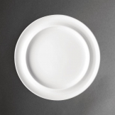 Olympia Heritage Raised Rim Plates White 253mm (Pack of 4)