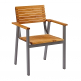 Bench Arm Chair - Robinia Wood