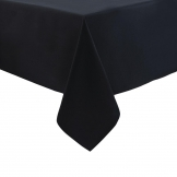 Essentials Occasions Round Tablecloth Black Polyester 280cm (120 TC, Polyester)