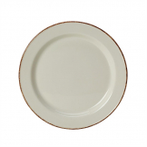 Steelite Brown Dapple Slimline Plates 255mm (Pack of 24)