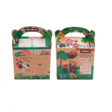 Crafti's Kids Recycled Kraft Bizzi Meal Boxes Pet and Farm (Pack of 200)