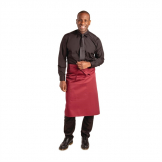 Whites Regular Bistro Apron Burgundy