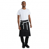 Whites Southside Bistro Apron Denim Black 1000mm