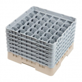 Cambro Camrack Beige 36 Compartments Max Glass Height 298mm