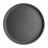 Kristallon Fibreglass Round Non-Slip Tray Black 356mm