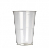 Plastico Premium Disposable Half Pint Glasses CE Marked 284ml (Pack of 1000)