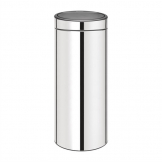 Brabantia Stainless Steel Touch Top Bullet Bin Silver 30Ltr