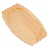 Olympia Light Wooden Base for Sizzle Platter 315 x 220mm