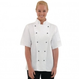 Whites Chicago Unisex Chefs Jacket Short Sleeve XS