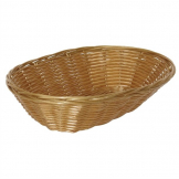 Poly Wicker Oval Food Basket (Pack of 6)