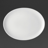 Utopia Pure White Oval Plates 300mm (Pack of 18)
