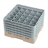 Cambro Camrack Beige 25 Compartments Max Glass Height 257mm