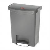 Rubbermaid Slim Jim Step On Front Step Pedal Bin Grey 30Ltr
