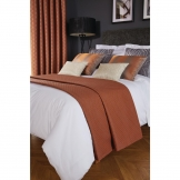 Luxury Deco Bed Runner Copper Delano Double