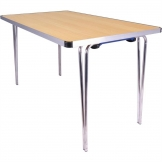 Gopak Contour Folding Table Beech 4ft