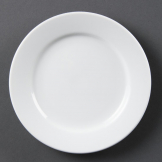 Olympia Whiteware Wide Rimmed Plates 165mm (Pack of 12)