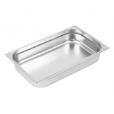 Vogue Heavy Duty Stainless Steel 1/1 Gastronorm Pan 100mm