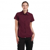 Chef Works Womens Cool Vent Chefs Shirt Merlot M