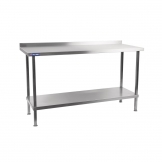 Holmes Stainless Steel Wall Table with Upstand 1500mm