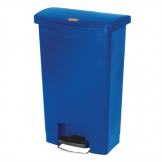 Rubbermaid Slim Jim Step on Bin Front Pedal 50Ltr Blue