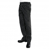 Chef Works Unisex Easyfit Chefs Trousers Black and White Striped S