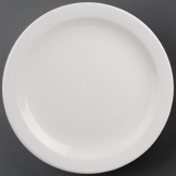 Athena Hotelware Narrow Rimmed Plates 284mm (Pack of 6)