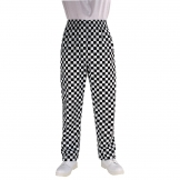 Chef Works Essential Baggy Pants Big Black Check XL