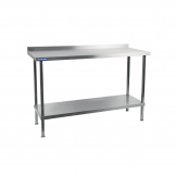 Holmes Stainless Steel Wall Table with Upstand 900mm