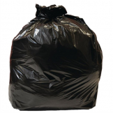 Jantex Large Medium Duty Black Bin Bags 90Ltr (Pack of 10)