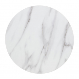 Bolero Pre-drilled Round Table Top Marble Effect 600mm