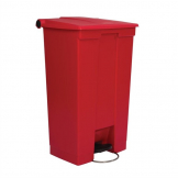 Rubbermaid Step On Pedal Bin Red 87Ltr