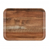Cambro Madeira Laminate Canteen Tray Brown Oak 430mm