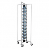 Vogue Mobile Plate Rack 84 Plates