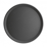 Kristallon Fibreglass Round Non-Slip Tray Black 406mm