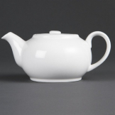 Bulk Buy Olympia Whiteware Teapots 426ml (Pack of 12)