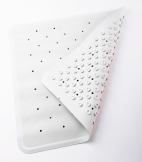 Rubber Shower Mat - White