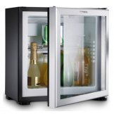 Dometic Classic Line Silent Hotel Room Glass Door Fridge Black RH429 LDAG