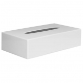 White Rectangular Tissue Holder