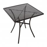 Bolero Black Steel Patterned Square Bistro Table 700mm