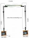 Telescopic 3M x 6M Free Standing Backdrop Stand